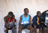 Kenyans, (from left) Second place winner, Richard Kimeli (cq), first place Jynocel Basweti (cq)...