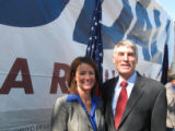 Cutline for both: Republican Karen Allard Campbell - the daughter-in-law and niece of two GOP...
