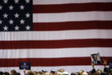 Democratic VP candidate Joe Biden delivers his speech at the University of Northern Colorado...