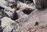 Jim Davidson (cq), of Fort Collins, heads down toward the Carbon Glacier on June 18, 1992, the...