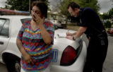 ( Denver, Colorado -7/21/2004 )   In a stop at Knox Ct and 14th, Delphine Kennison was hit in the...