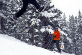 [Crested Butte, CO - Shot on: Jan. 8, 2005] Wendy Fisher, extreme skiing champion, teaches classes...