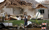 (PG9446)  Two tornadoes touched down in Windsor, Colo., on Thursday, May 22, 2008. (PRESTON...