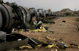 (PG9368)  A train is toppled over where two tornadoes touched down in Windsor, Colo., on Thursday,...