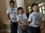 The home of Vinnie and Samantha Castilla for Home Front.  These are their three boys:  Marco, 12,...