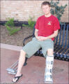 Despite a broken ankle and dropping temperatures, Jonathan Holton, of Carbondale, was able to...
