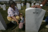 55 year-old Becky Lee Foushee (cq) takes a few moments to visit her brother, Frank Foushee Jr....