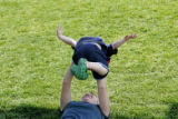 2 year-old Zane Ornelas (cq) plays with her mother Nicole Ornelas (cq) at the Denver Botanical...