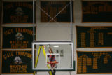 MJM513  Janitor for Monte Vista High School, Teresa Flores (cq) cleans the basketball backboard as...
