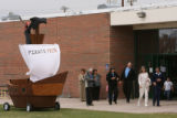 CODER104  People begin to depart the funeral for  Srgt. Glen Martinez, 31, Tuesday 05/13/08 at...
