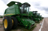 New combines are selling like hot cakes  at the John Deere dealership in Yuma CO May 8, 2008. As...