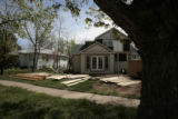 A huge house is being built on the corner ov Evergreen Ave and 7th St. Wednesday morning, May 14,...