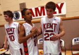 Englewood, Colo., photo taken January 7,2004- Kent Denver sophomore Kyle Lewis (left) and junior...