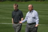 Jeff Goodman, Assistant General Manager, left, and his dad, Jim Goodman, VP of Football...