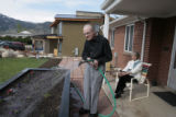 Homeowners Larry, left, and Ruth Hause at their home at 2003 Balsam Dr., Wednesday morning, May...