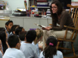 Teacher Siri Lewis (cq) reads to students in her third grade  class at Castro Elementary Thursday...