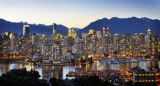 VANCOUVER B.C. 070808 WARM EVENING WEST COAST GLOW.... Downtown Vancouver glows late into the...