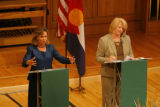 DM1561  MUSGRAVE_MARKEY_DEBATE+ 55080 Republican Marilyn Musgrave and Democrat Betsy Markey face...