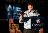 (PG11798) Former Gov. Romer campaigns for Obama on a Rural RV Tour in Greeley, Colo., on...