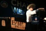 (PG12634) Sen. Ken Salazar and other local politicians campaign for Obama during a Rural RV Tour...