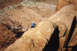 Mike Price climbs in Utah's canyonlands during a 1991 Outward Bound trip. Price died June 21,...