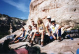 Mike Price, second from left, and members of an Outward Bound crew, including Joanne Donohue,...