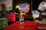 Sean Conway (cq) GOP candidate for Weld County Commissioner, displays the bottled water he hands...