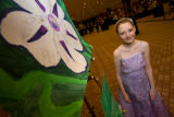 "(Denver, Colorado, Oct. 18, 2008) Kennedy Bougher (12) painted ""Fleur"" on her trip to..."