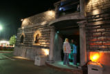 Customers enter The Asylum Haunted House at Boondocks Fun Center in Northglenn on October 16,...
