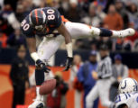 (DENVER, Co., SHOT 1/2/2005) The Denver Broncos' Rod Smith (#80, WR) drops what would have been a...