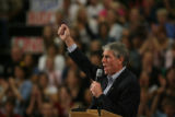 MJM1180  Senator Mark Udall addresses a packed gymnasium at Dakota Ridge High School in Littleton,...