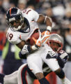(CS207)Jonathan Wilhite misses a tackle on Eddie Royal in the third quarter of the Denver Broncos...