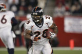 (CS226) Michael Pittman runs in the third quarter of the Denver Broncos against the New England...