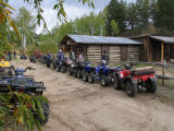 ATV lined up in Turret, a Colorado ghost town just outside of Buena Vista, CO. Dan Delasantos and...