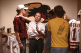 Denver, Colo., photo taken April 13, 2005-University of Denver men's hockey head coach, George...