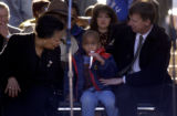 [DENVER, CO - Shot on: 1/17/05]  J'Lon (cq) Stokes,3, (center) made new friends in Denver Mayor,...