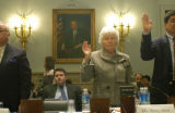 Washington, DC April 14, 2005_ Mrs. Betty H. Dick, Scottsdale, Arizona is sworn in to a...