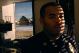 (DENVER, CO., JANUARY 07, 2005)  Denver Sheriff's Captain Elias Diggins, 31, Training Academy ERU...