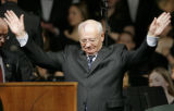 (Fort Collins shot on 4/14/05) Former leader of the Soviet Union Mikhail Gorbachev(CQ- Mikhail...