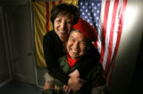 Vu Thana Doan(cq), right,  an ex- solder in the 14th Airborne Division of the Republic of South...