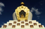 (Crestone, Colo., April 20, 2005) ROCKY MT ADVENTURE  The Tashi Gomang Stupa (cq) is one of two...