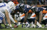 (DENVER, CO., JANUARY 02, 2005) Denver Broncos' defensive line, #92, Marco Coleman, Monsanto Pope...