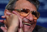 PACK101 - Penn State football coach Joe Paterno smiles during a news conference before the Blue...