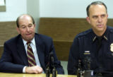 (MONTBELLO, Colo., January 4, 2005)  DPS Superintendent Jerry Wartgow reacts as Denver police...