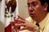 (DENVER, Colo., May 19, 2005) Mexico's consul general Juan Marcus Gutierrez is interviewed...