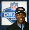 Denver Bronco's NFL first draft pick, in round 2, 56 pick overall,  Darrent Williams, CB from...