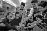 (DENVER, COLO.,  MARCH 24, 2005)  Students from Lincoln High School's Ms. Maria Anglade's ELA...