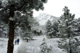 (1/5/05,DENVER, CO)  It was cold and snowy in the Boulder area foothills Tuesday.  Chautaugua Park...