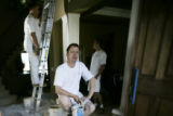 In Lakewood, Keith Laurie, 40, (front ) with  Imaginae Painting is assisted by Graeme Duncan,...