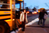 (LAKEWOOD, Colo., January 6, 2005) Bear Creek High School students exit make their way off school...